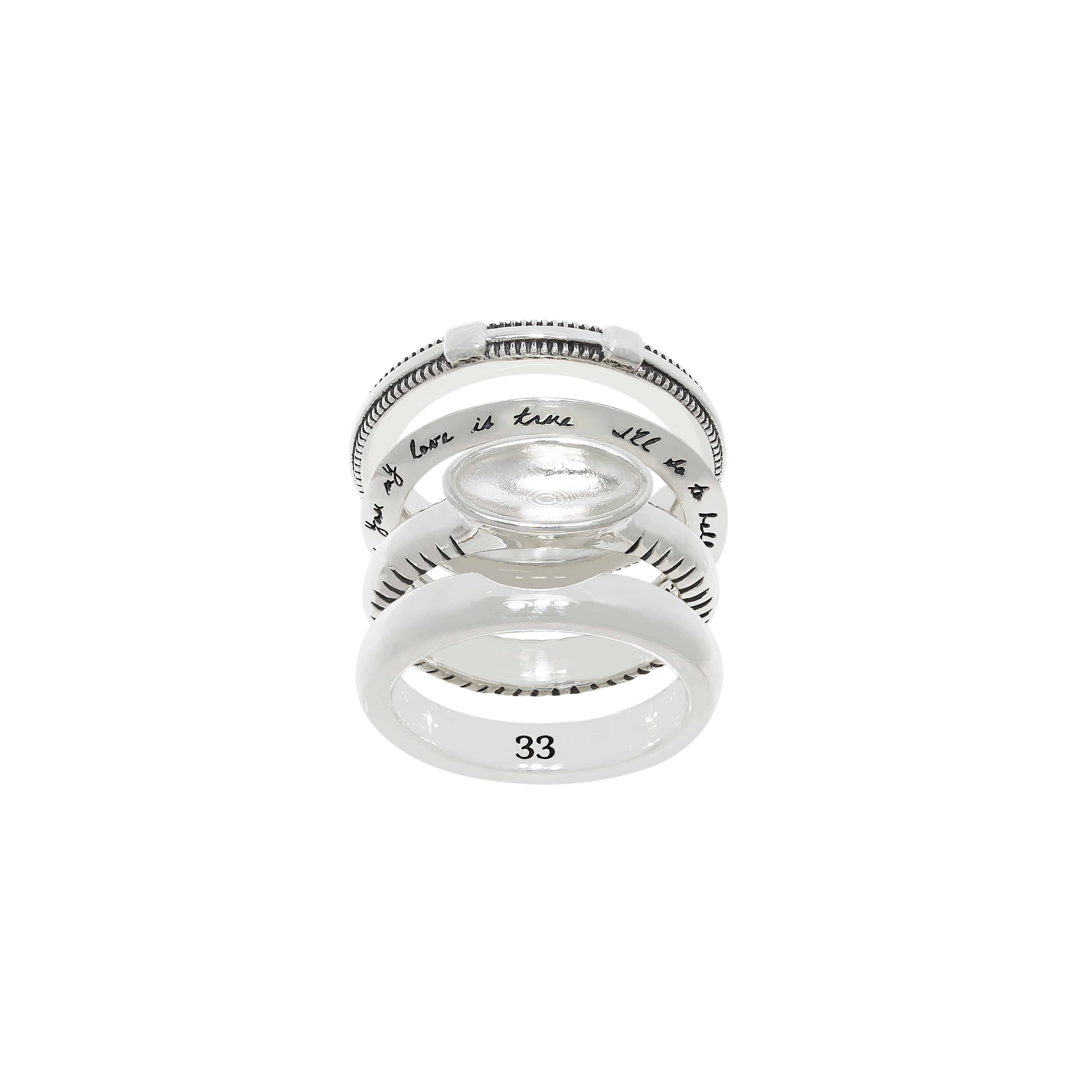 Love Oval Set Rings