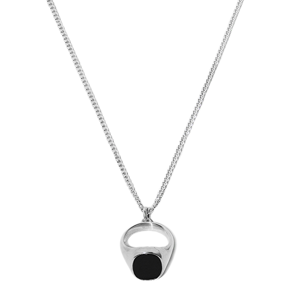 Promise Onyx Ring Necklace